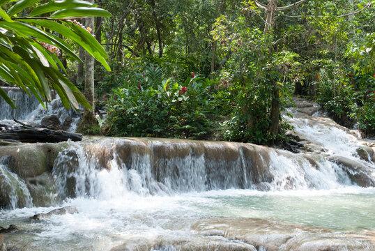 Ocho Rios Resort Town River With Waterfalls