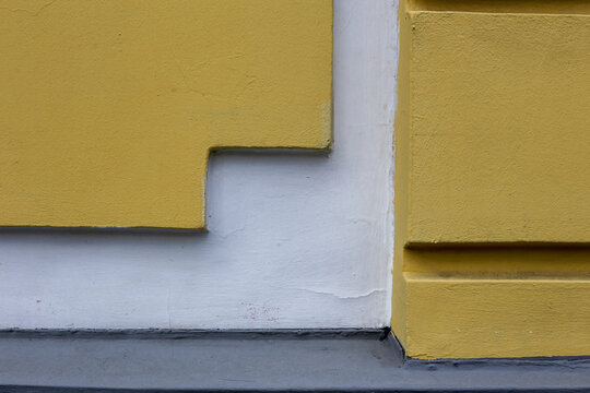 Wall pattern of the ancient structure of buildings in a city. Geometrical and minimalist design.