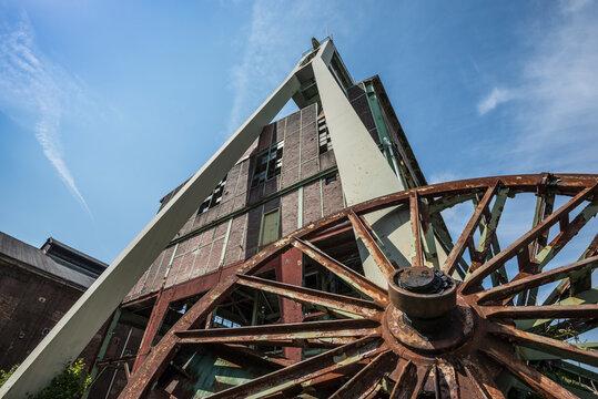 historic coal mine building