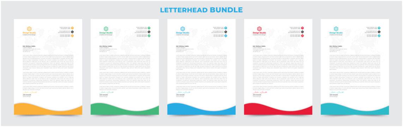 creative professional letterhead design template