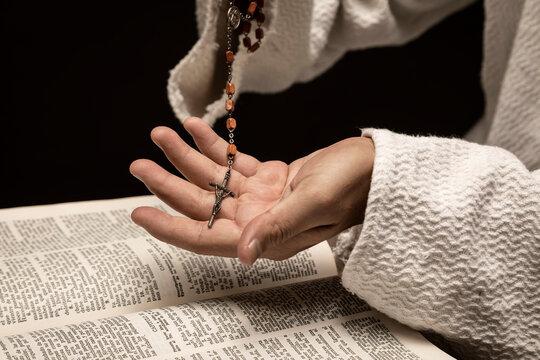 Jesuschrist praying