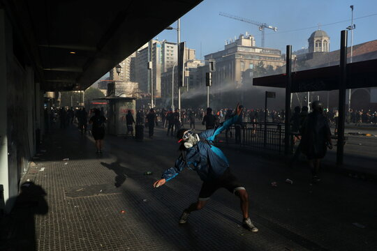 Protest against Chile's government in Santiago