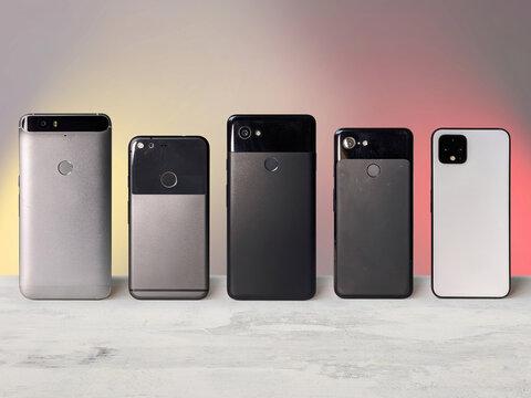 Evolution of smartphones using the example of 5 smartphones