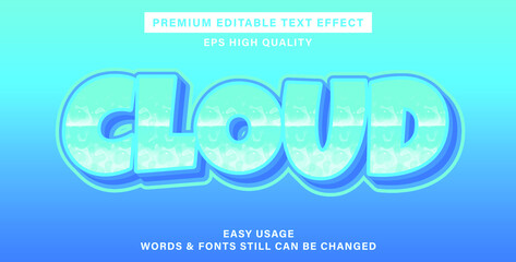 Wall Mural - cloud editable text effect