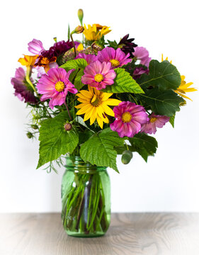 Summer flowers in a vase.