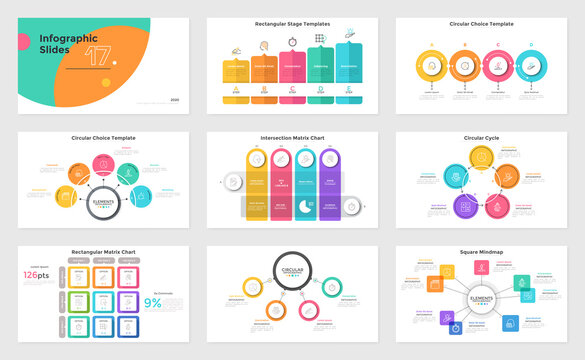Set of 9 Infographic Concepts
