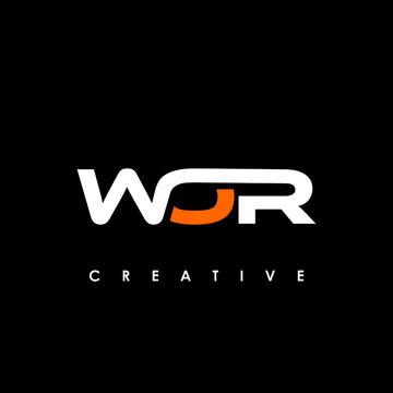 WOR Letter Initial Logo Design Template Vector Illustration