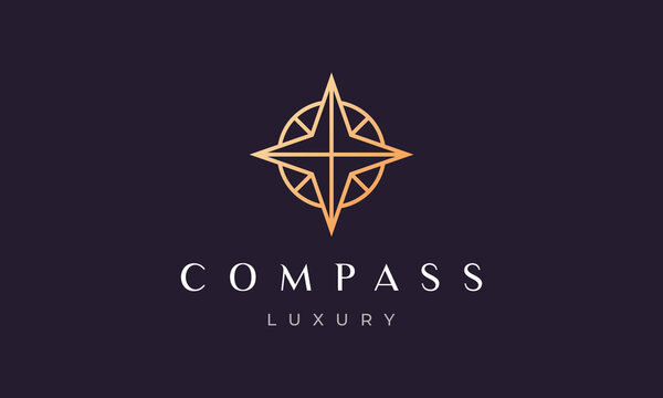 compass logo concept in a modern and luxury style