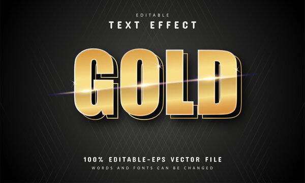 Gold text effect vector design