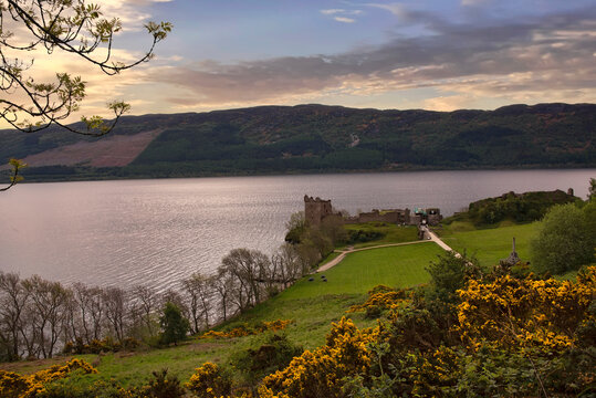 Loch Ness River at End of Day