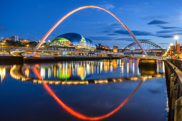 Wall Murals Bridge Bridges across the River Tyne between Newcastle and Gateshead