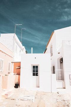 City architecture in Olhao, Algarve - Portugal