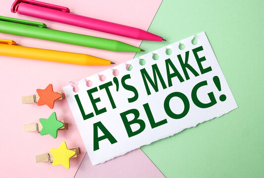 Lets Make a Blog, test on white paper on COLORED paper