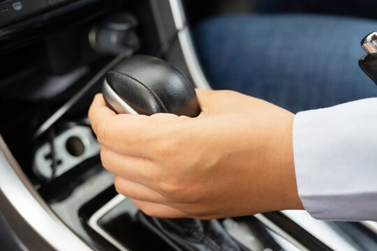 Automatic transmission in modern sports cars Elegant and expensive concept