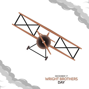 vector graphic of wright brothers day good for  wright brothers day celebration. flat design. flyer design.flat illustration.