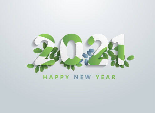 Happy New Year 2021 background design with elements. EPS10 vector illustration.