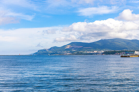 Scenery of the coastline of Otaru, Hokkaido, Japan