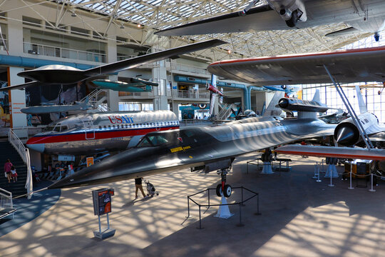 Seattle, USA - September 3, 2018: Seattle Aviation Museum. Private non-profit aviation and space museum in the Pacific Northwest.
