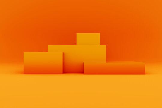 Podium blocks 3D background illustration