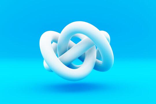 An abstract geometric knot figure