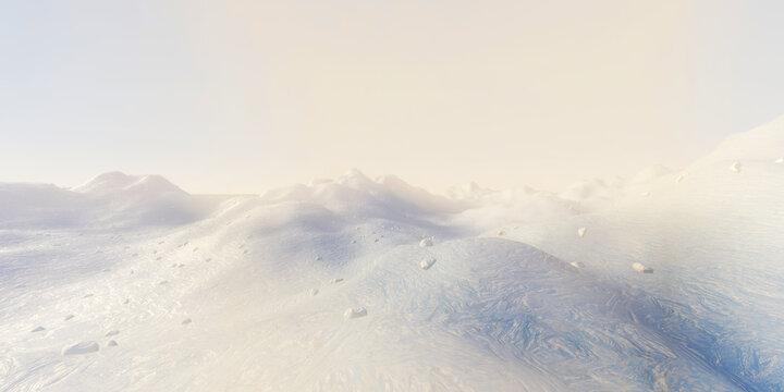 Arctic landscape illustration