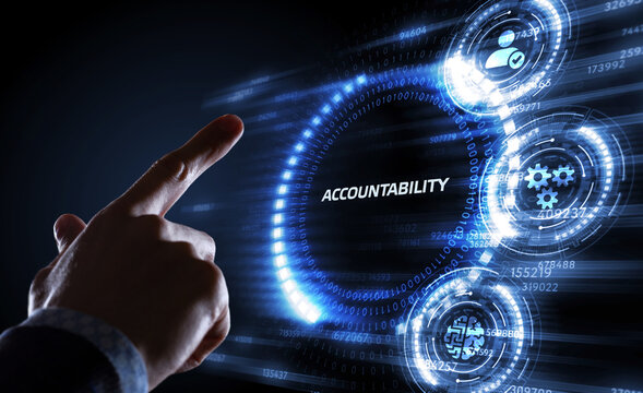 Accountability, productivity and success concept. Business, Technology, Internet and network concept.