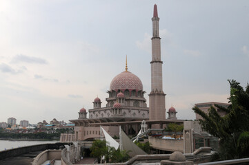 Putra Mosque in Putrajaya city, Malaysia  Wall mural