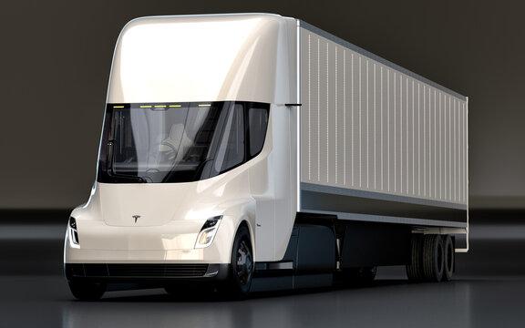 Tesla Semi Truck in the studio