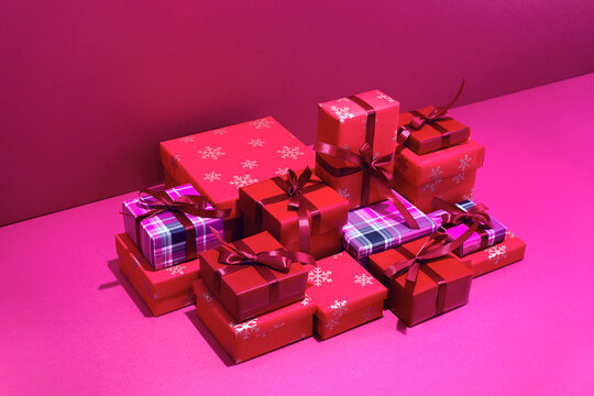 Christmas gifts or winter holiday shopping concept