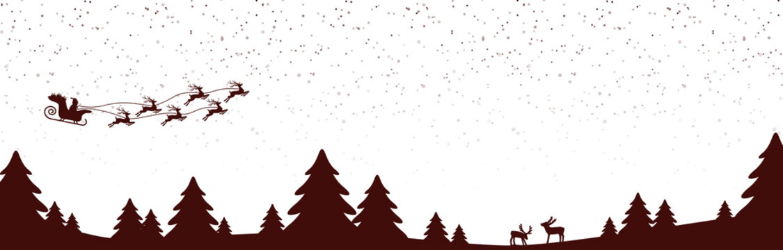 xmas background with snow fall and trees