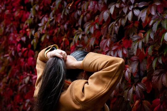 Haare im Herbst