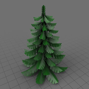 Stylized fir tree