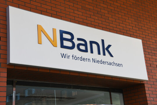 Hanover, Lower Saxony, Germany - April 5, 2020: Headquarters of NBank in Hanover, Germany - NBank stands for the professional development of business, the labour market, housing and infrastructure