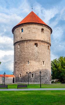 Kiek-in-de-Kok tower of Tallinn old town walls, Estonia