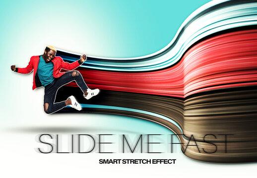 Stretched Image Effect Mockup