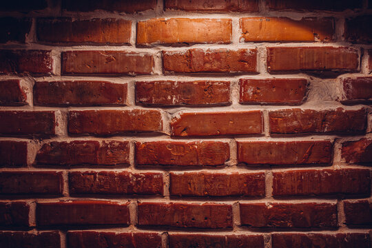Real old sanded brick wall. Texture background image