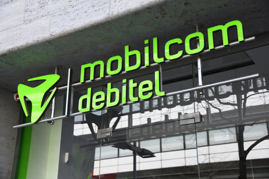 Hanover, Lower Saxony, Germany - April 12, 2020: Mobilcom Debitel logo in Hanover Germany - Mobilcom Debitel is a large independent distributor of cell phone contracts in Germany