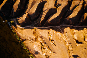 Wall Mural - Panoramic drone view of an incised meander of the river. Location place Grand canyon Stanislav.