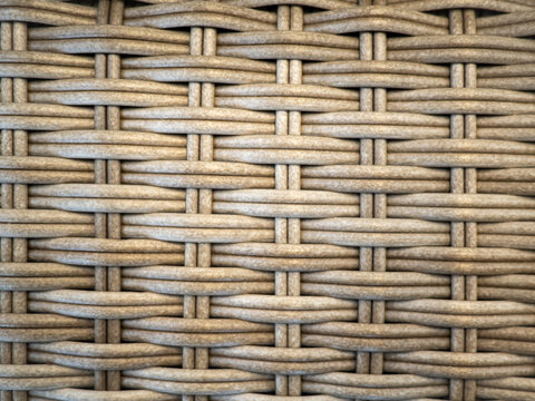 Image of Yellow rattan chair or table texture