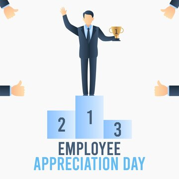 Employee Appreciation Day Vector Illustration. Suitable for Greeting Card, Poster and Banner.