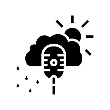 weather radio channel glyph icon vector. weather radio channel sign. isolated contour symbol black illustration