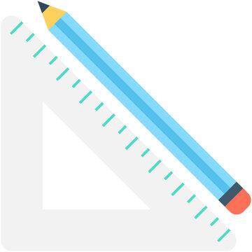 Set Square Flat Vector Icon