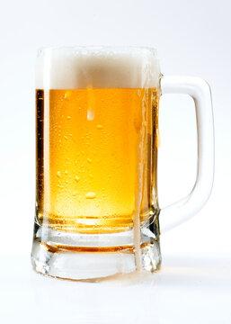 Draught beer png in a mug mockup