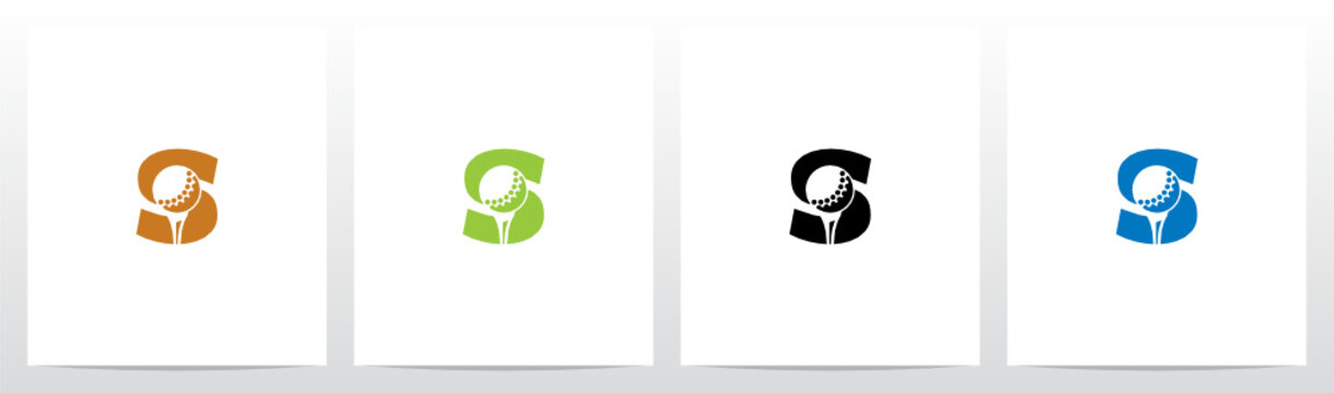 Golf Ball On Letter Logo Design S