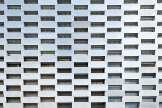 Copenhagen. Denmark. July 23, 2019: Facade of a modern building made of metal. Close-up.