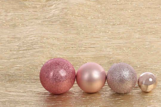 four different christmas balls