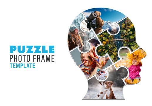 Puzzle Photo Frame Mockup