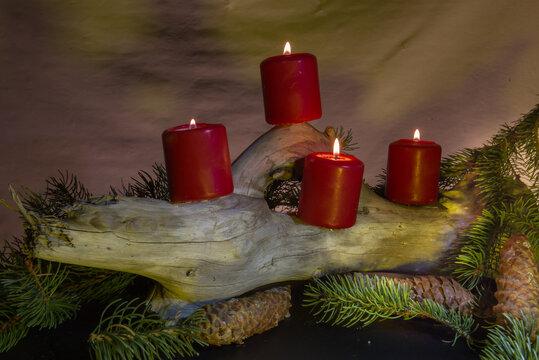 Weihnachtsdekoration im Advent.