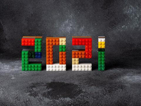 2021 Christmas tree minecraft game constructor Children's Designer of the bricks