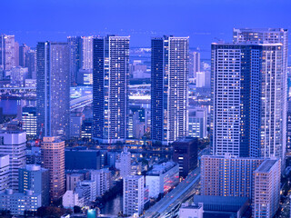 Fototapete - 東京都 臨海エリアのタワーマンション群